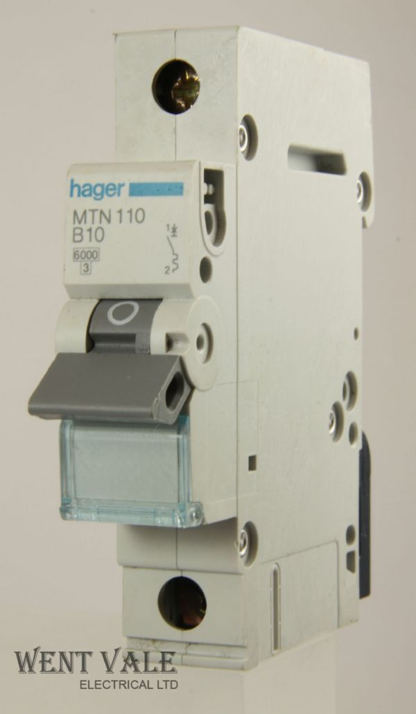 Hager MTN110 - 10a Type B Single Pole MCB Used